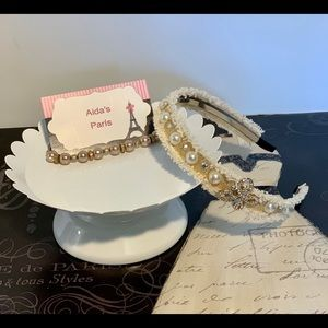 Faux Pearl and metallic butterfly 🦋 headband